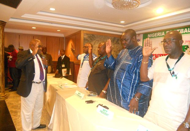 Chris Giwa and others sworn in to the NFF Board