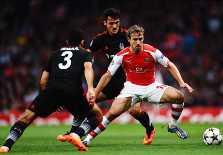 LIVE: Arsenal 1-0 Besitkas (agg. 1-0)