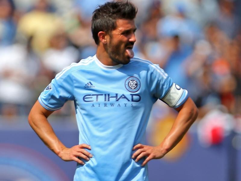 WATCH: David Villa sent off