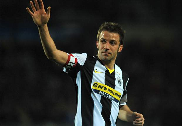 Juventus Captain Alessandro Del Piero Would Welcome Cassano Challenge
