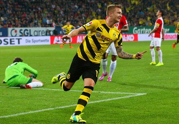 Augsburg 2-3 Borussia Dortmund: Reus on target as BVB bounce back