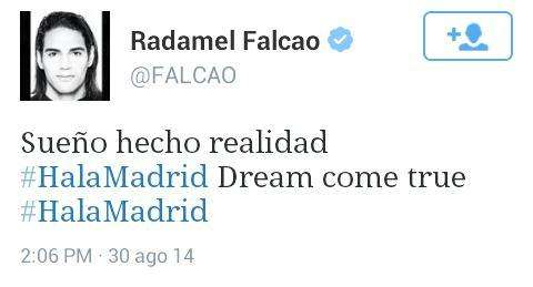 Tuit Radamel Falcao