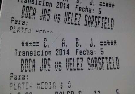 ¡Ganate dos plateas para Boca - Vélez!