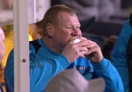 Sutton goalie defends pie-eating antics