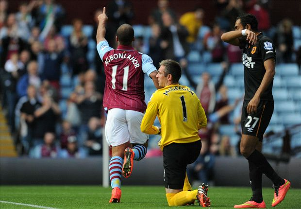 Aston Villa 2-1 Hull City: Agbonlahor & Weimann maintain hosts' strong start