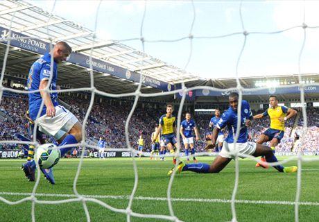 Résumé de match, Leicester-Arsenal (1-1)