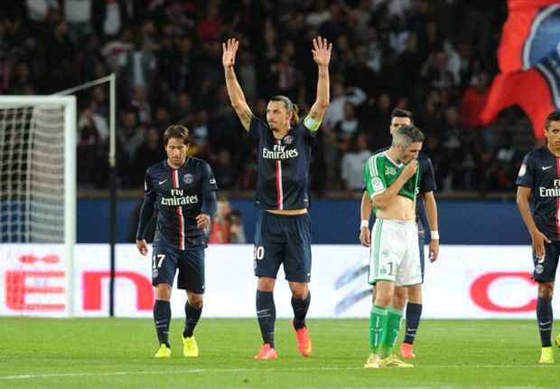 Paris Saint-Germain 5-0 Saint-Etienne: Ibrahimovic hits hat-trick in inspired comeback