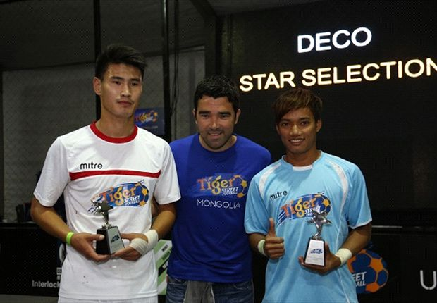 Deco visits Mongolia as second leg of Tiger Street Football kicks off