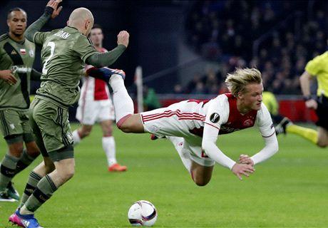 Weinig voldoendes bij matig Ajax