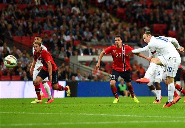 England 1-0 Norway: Sterling shines again as Rooney penalty seals win