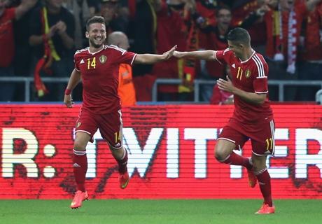 Belgium 2-0 Australia: Witsel, Mertens goals