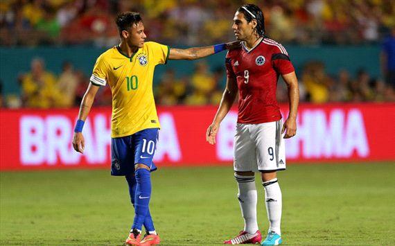 Neymar Radamel Falcao Brazil ColombiaNeymar Radamel Falcao Brazil Colombia