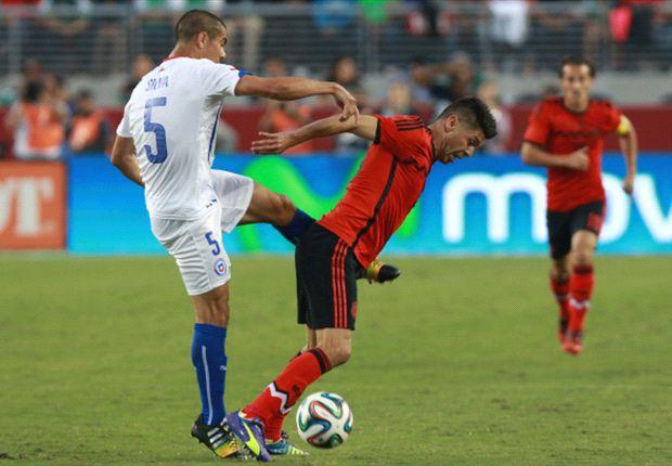 Chile y México dieron un gran partido en el Levi's Stadium.