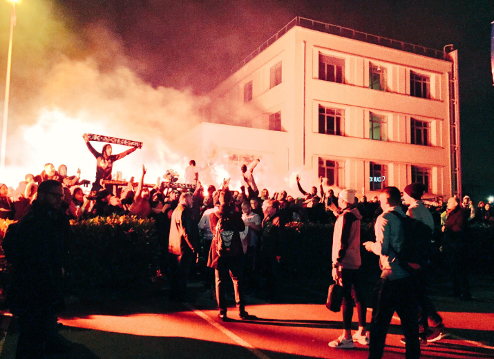 OM-PSG - Le Collectif Ultras Paris met le feu au Bourget au retour des Parisiens