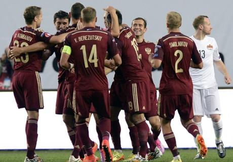 Résumé de match, Russie-Liechtenstein (4-0)