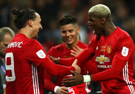 Mou snubs Pogba for Zlatan as Cup hero