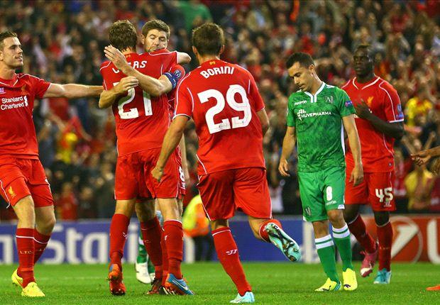 Liverpool 2-1 Ludogorets: Talisman Gerrard scores dramatic late winner