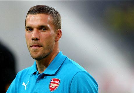 Podolski hints at Arsenal exit