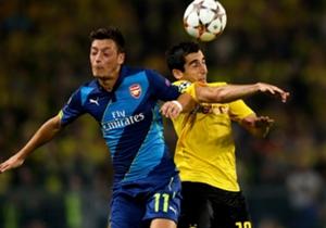 Mesut Ozil Arsenal Henrikh Mkhitaryan Borussia Dortmund UEFA Champions Leauge 16092014