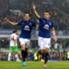 Everton's Seamus Coleman and Leighton Baines