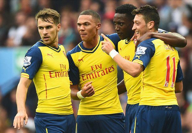Aston Villa 0-3 Arsenal: Ozil stars as Welbeck bags first Gunners goal