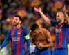 Así celebró Rafinha el gol de Messi