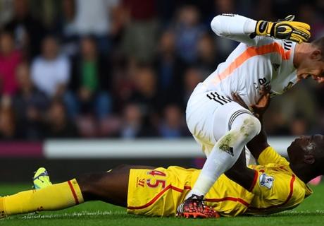 Balotelli: primer incidente en Liverpool