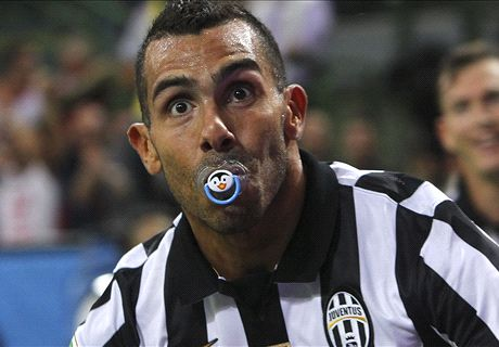 Tevez the daddy as Juve march on