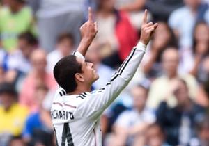 Real Madrid forward Javier Hernandez