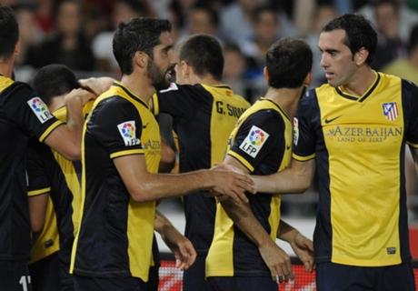 Almeria 0-1 Atletico Madrid: Miranda header