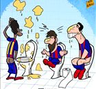 BARCA: Messi & Suarez's toilet habit