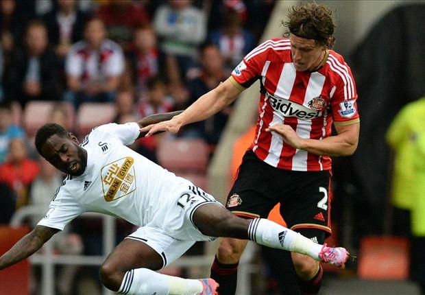 Sunderland 0-0 Swansea City: Rangel sent off in goalless draw
