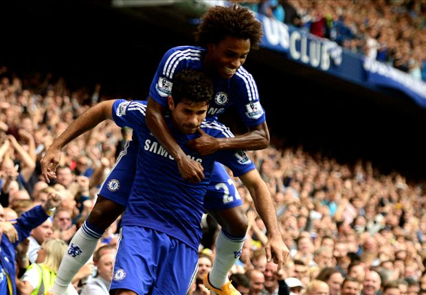 Chelsea 3-0 Aston Villa: Costa back on target in routine win