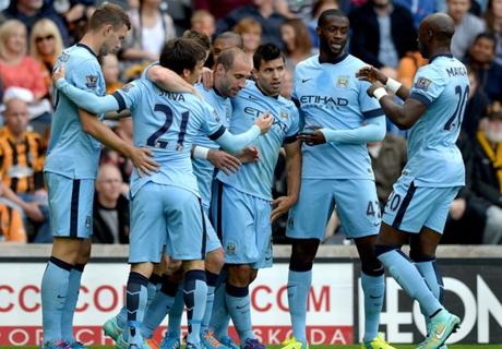 Inglês: Hull 2 x 4 Manchester City