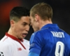 Nasri slams 'cheat' Vardy after red card