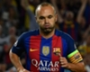 Andres Iniesta playing for Barcelona