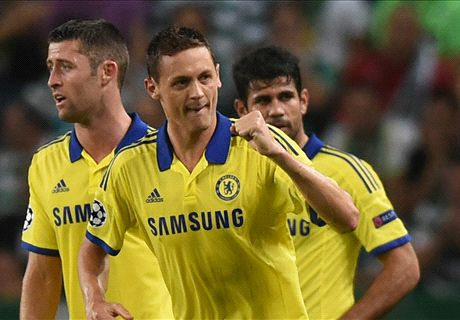 Matic heads Chelsea past Sporting