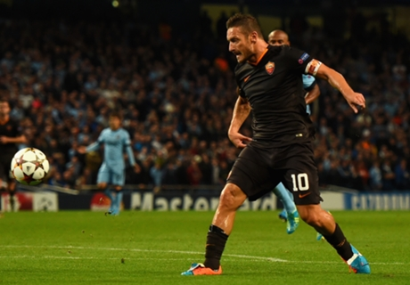Roma unlucky not to beat Man City - Totti