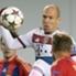 Traf zuletzt in Rom doppelt: Arjen Robben (Mitte)