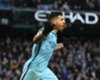 Manchester City striker Sergio Aguero celebrates a Premier League goal against Liverpool