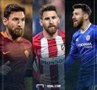 Messi com a camisa de outros grandes clubes