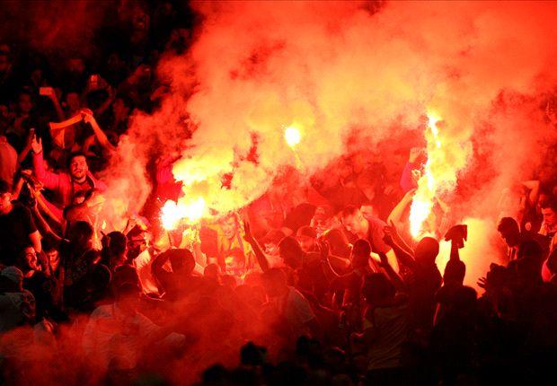 Galatasaray fans accused of damaging Emirates Stadium seats