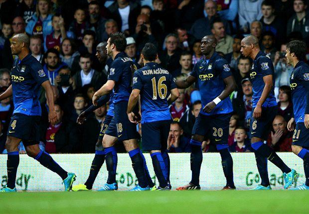 Aston Villa 0-2 Manchester City: Yaya Toure & Aguero break hosts' resistance