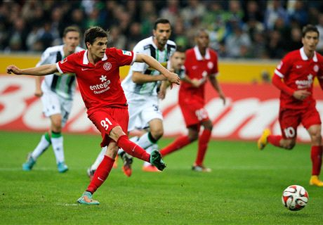 Bundesliga, 7ª - 1-1 in Gladbach-Mainz