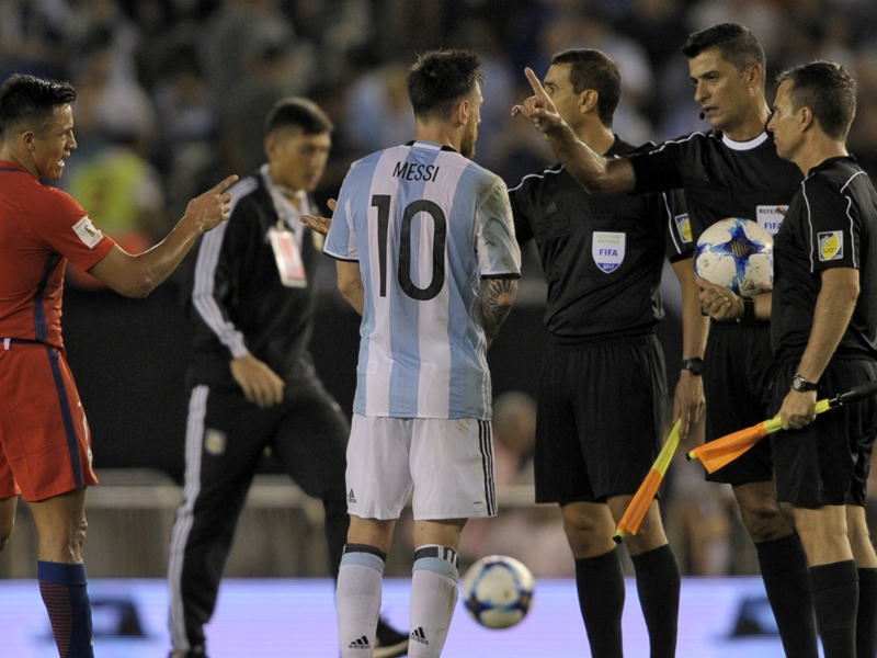 What did Lionel Messi say to get banned for Argentina?