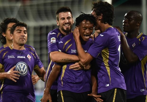 La Fiorentina festeggia la vittoria
