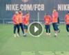 VÍDEO: Iniesta, Busquets, Denis contra Piqué, Neymar y Messi a las 3 en raya