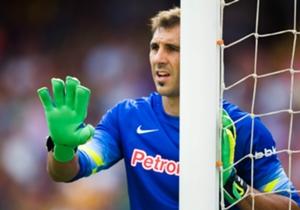 GORKA IRAIZOZ | Encajó cuatro goles del Atlético de Madrid y en algunos pudo responder mejor