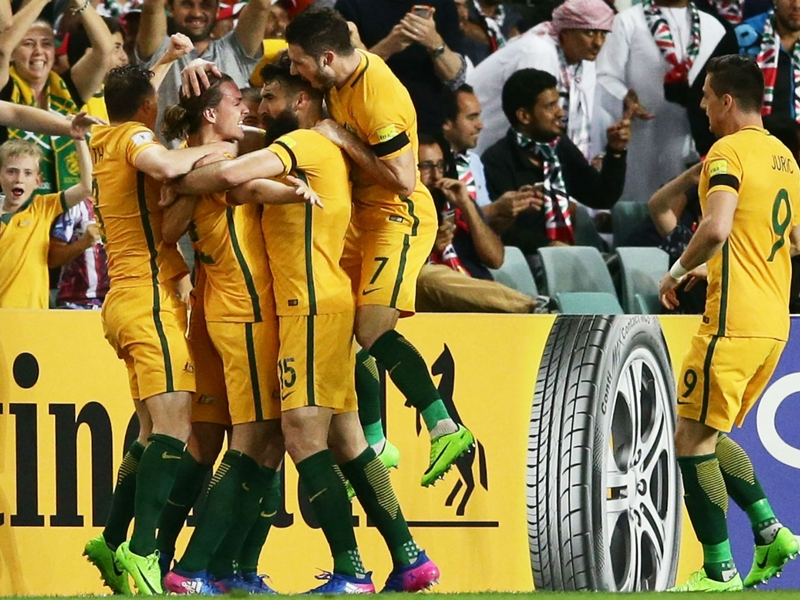 Australia 2 United Arab Emirates 0: Irvine, Leckie ease World Cup qualification fears