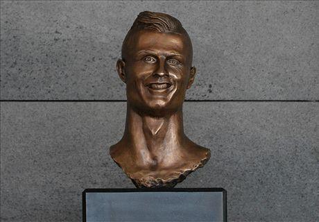 Bizarre Cristiano Ronaldo bust unveiled